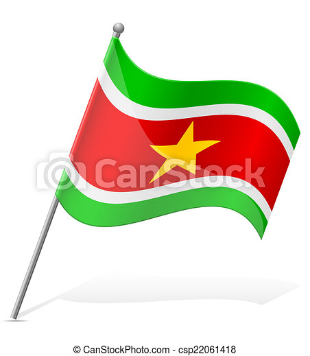 flag of Suriname vector illustration - csp22061418