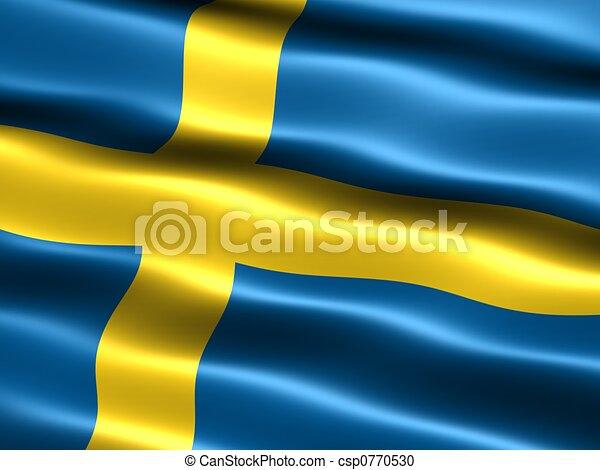 Flag of Sweden - csp0770530