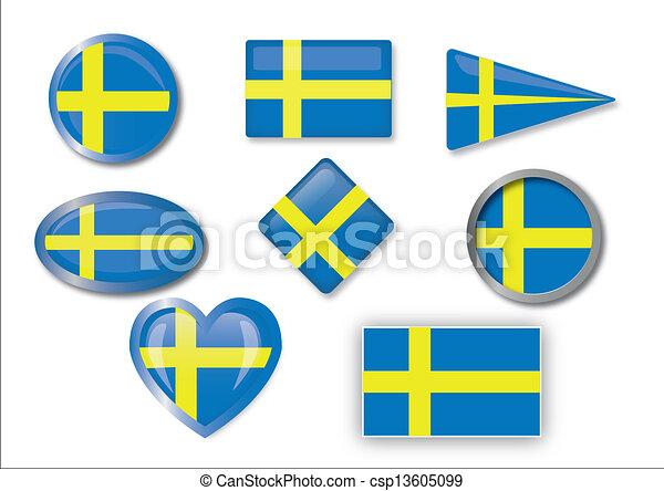 flag of Sweden - csp13605099