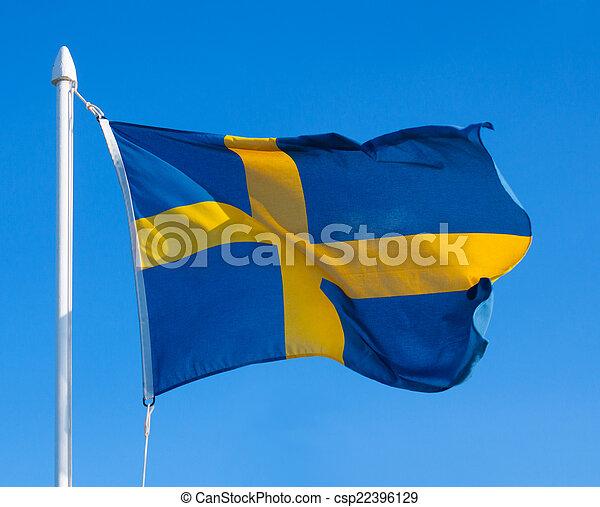 Flag of Sweden - csp22396129