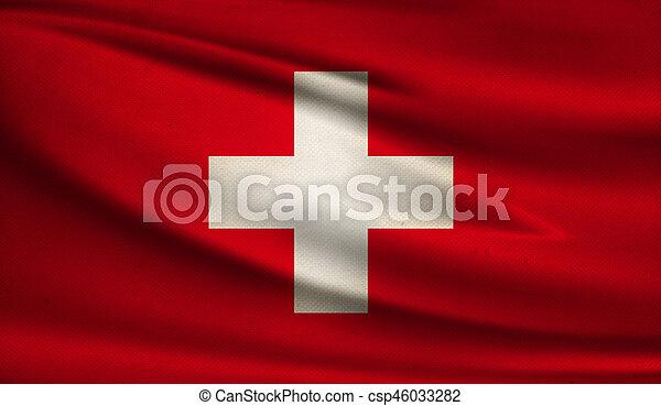 Flag of Switzerland. - csp46033282