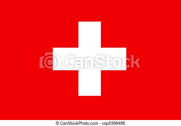Flag of Switzerland - csp0398488