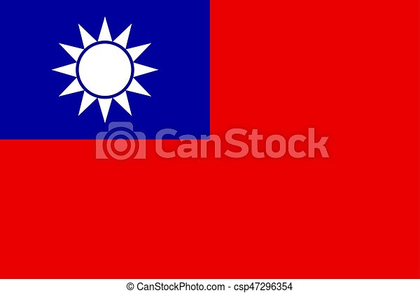 Flag of Taiwan vector illustration. - csp47296354