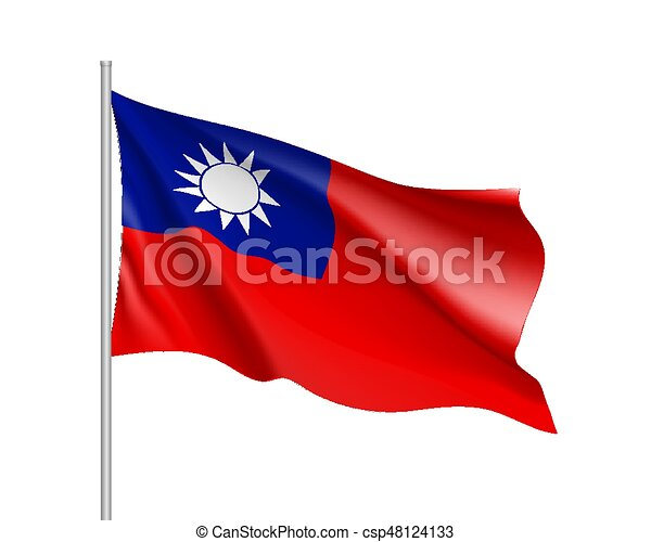 Flag of Taiwan. Vector sign. - csp48124133