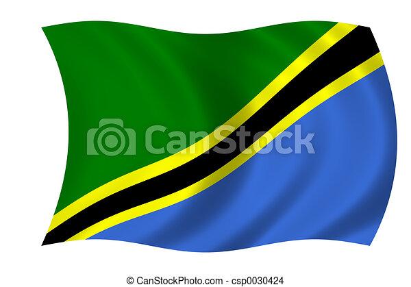 flag of Tanzania - csp0030424