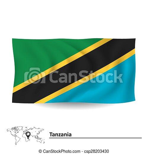 Flag of Tanzania - csp28203430