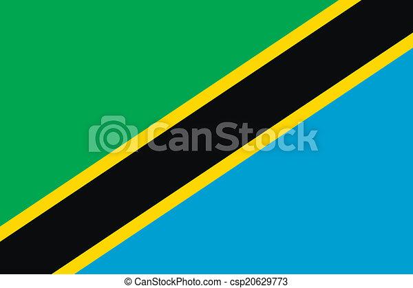 Flag of Tanzania - csp20629773