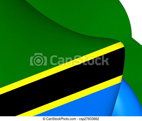 Flag of Tanzania - csp27603662