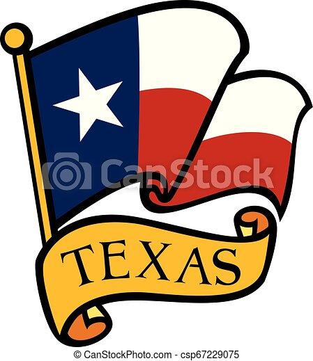 Flag of Texas vector illustration - csp67229075