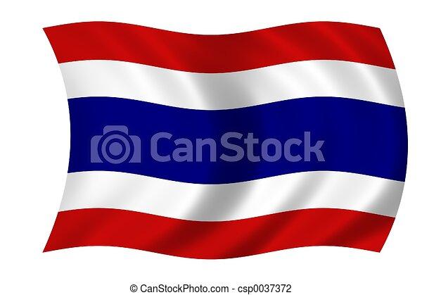 Flag of Thailand - csp0037372
