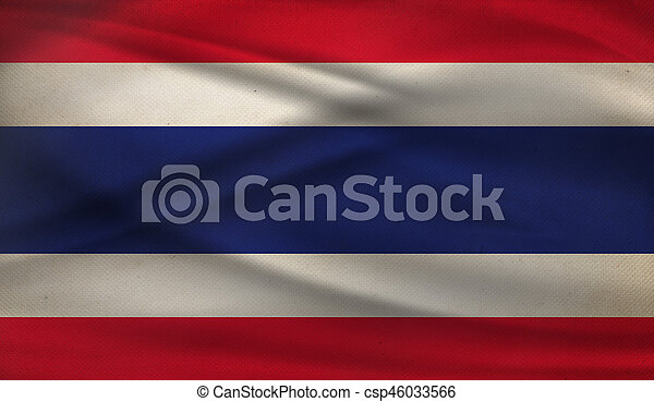 Flag of Thailand. - csp46033566