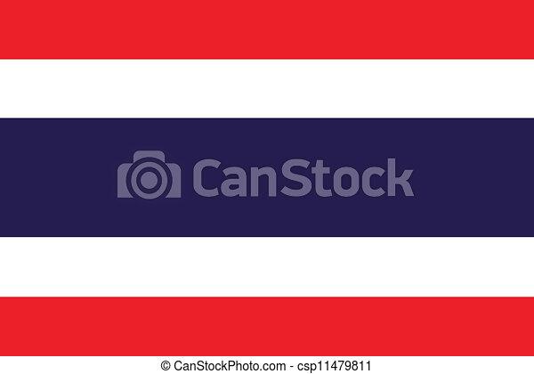 Flag of Thailand - csp11479811
