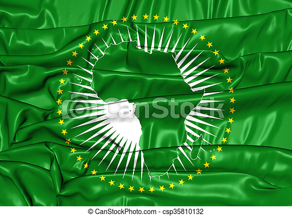 Flag of the African Union - csp35810132