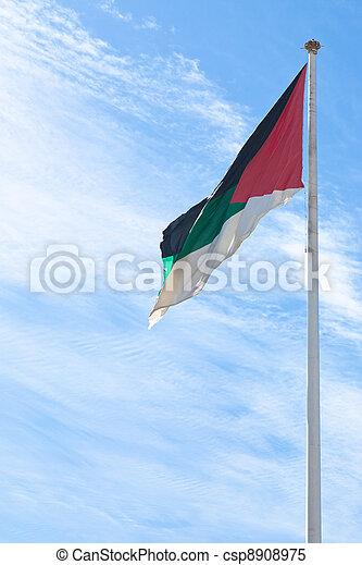 flag of the Arab Revolt in Aqaba, Jordan - csp8908975