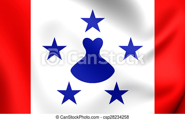 Flag of the Austral Islands, French Polynesia. - csp28234258