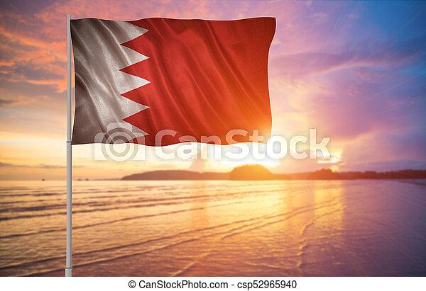 Flag of the Bahrain - csp52965940