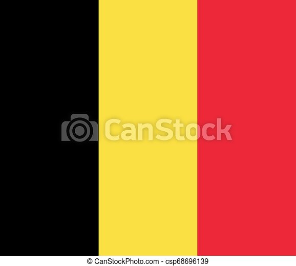 Flag of the Belgium. Vector illustration EPS10 - csp68696139