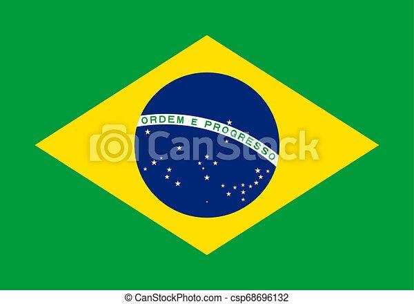Flag of the Brazil. Vector illustration EPS10 - csp68696132