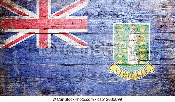 Flag of the British Virgin Islands - csp12635899