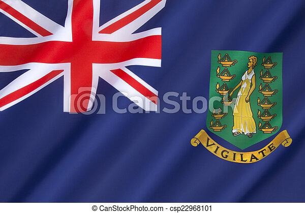 Flag of the British Virgin Islands - csp22968101