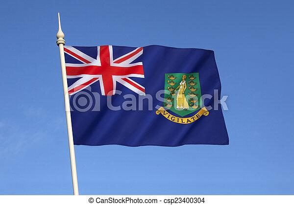 Flag of the British Virgin Islands - csp23400304