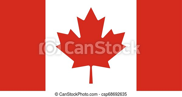 Flag of the Canada. Vector illustration EPS10 - csp68692635