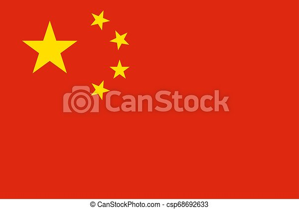 Flag of the China. Vector illustration EPS10 - csp68692633