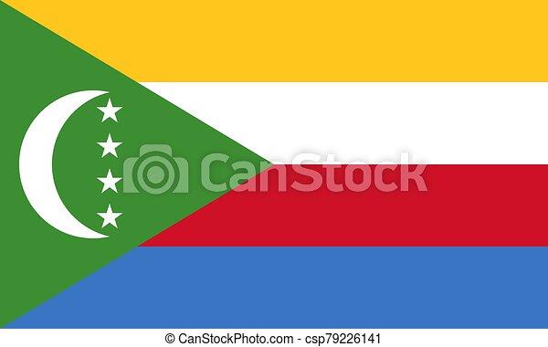 Flag of the Comoros vector illustration - csp79226141