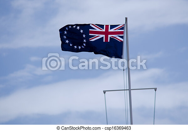 Flag of the Cook Islands - csp16369463