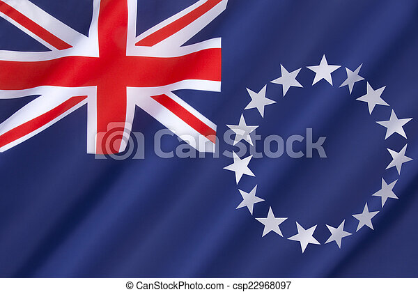 Flag of the Cook Islands - csp22968097