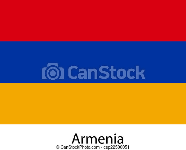 Flag of the country armenia. Vector illustration. - csp22500051