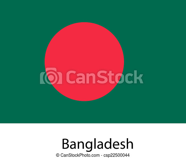Flag of the country bangladesh. Vector illustration. - csp22500044