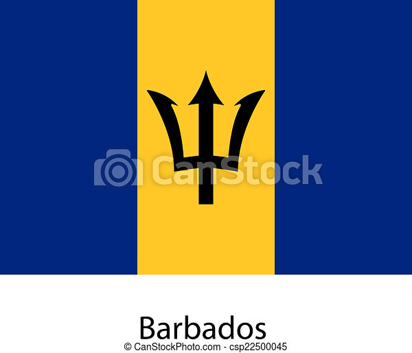 Flag of the country barbados. Vector illustration. - csp22500045