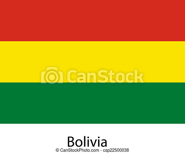 Flag of the country bolivia. Vector illustration. - csp22500038