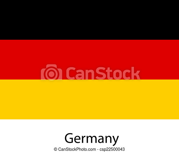Flag of the country germany. Vector illustration. - csp22500043