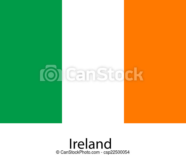 Flag of the country ireland. Vector illustration. - csp22500054