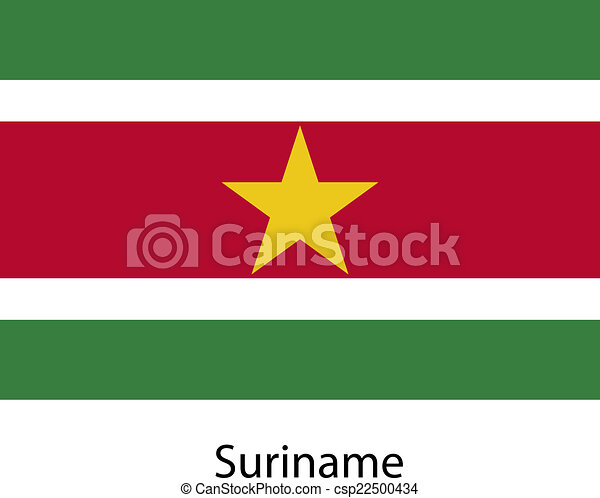 Flag of the country suriname. Vector illustration. - csp22500434