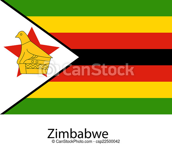 Flag of the country zimbabwe. Vector illustration. - csp22500042
