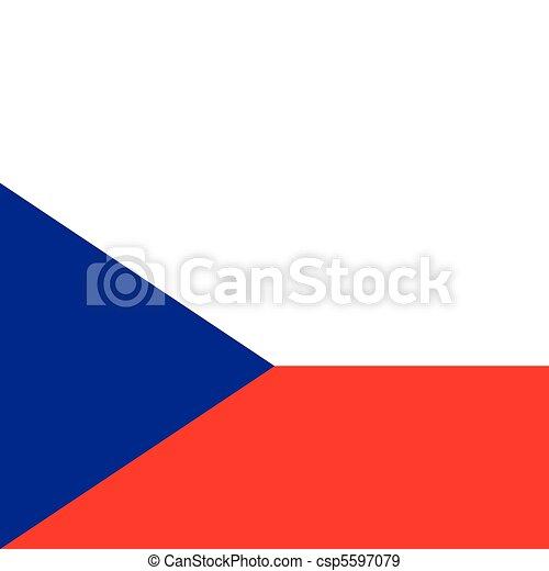Flag of the Czech Republic - csp5597079
