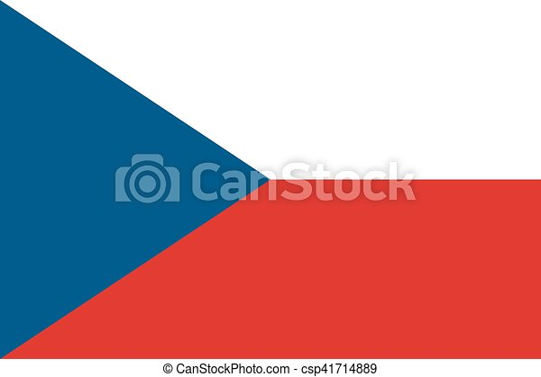 Flag of the Czech Republic - csp41714889