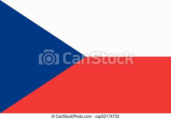 Flag of the Czech Republic. - csp52174733