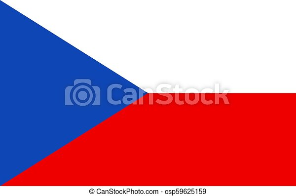Flag of the Czech Republic. Vector Illustration - csp59625159