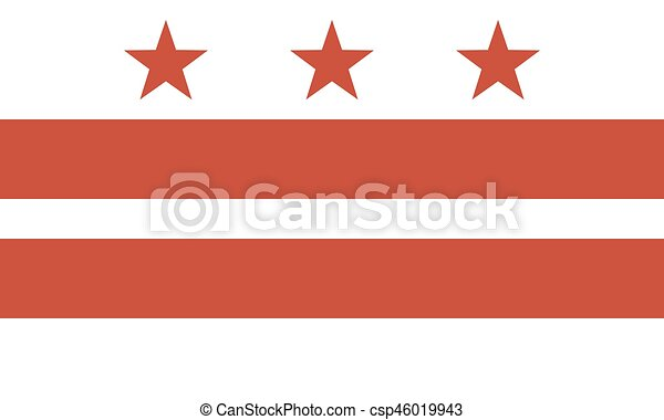 Flag Of The District Of Columbia Official Symbol Of The State Vector