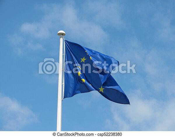 flag of the European Union (EU) - csp52238380