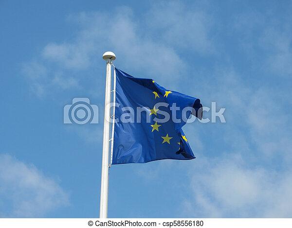 flag of the European Union (EU) - csp58556180