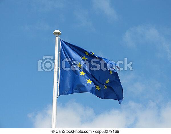 flag of the European Union (EU) - csp53279169