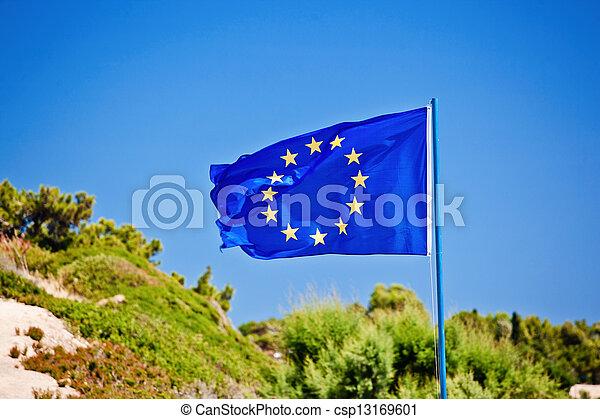 Flag of the European Union - csp13169601