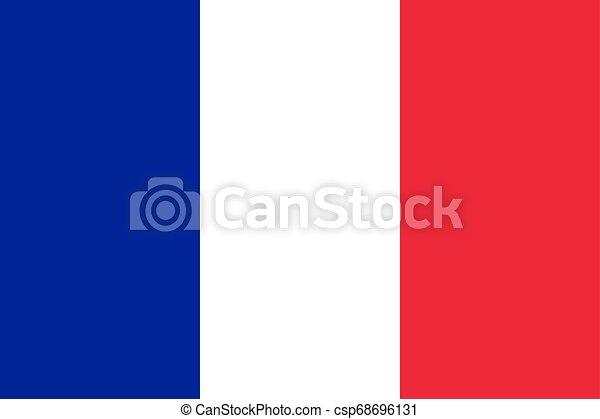 Flag of the France. Vector illustration EPS10 - csp68696131