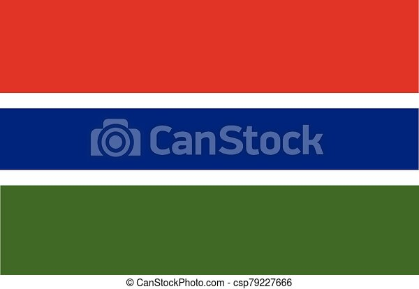 Flag of the Gambia vector illustration - csp79227666