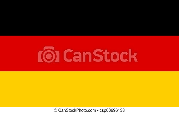 Flag of the Germany. Vector illustration EPS10 - csp68696133